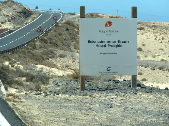 Tafel Landschaftsschutzgebiet Fuerteventura