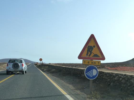 Verbotsschild Scheinwerfer Fuerteventura